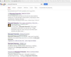 Fato aconteceu no Google no dia 27 de setembro de 2014. O assunto: educação financeira.